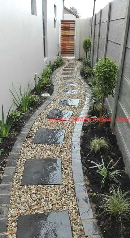 10 Different And Great Garden Project Anyone Can Make In 2020 Side Yard Landscaping Small Backyard Landscaping Small Garden Design