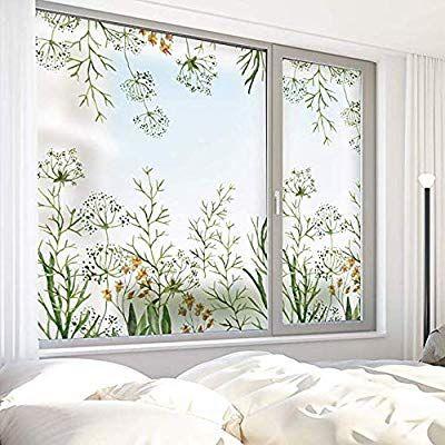 Amazon Com Dktie Decorative Window Cling Film Designs Vinyl No