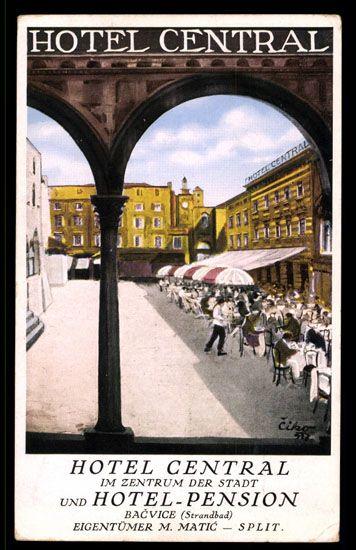 Croatia Split Hotel Central Poster Art Travel Posters Tourist Croatia
