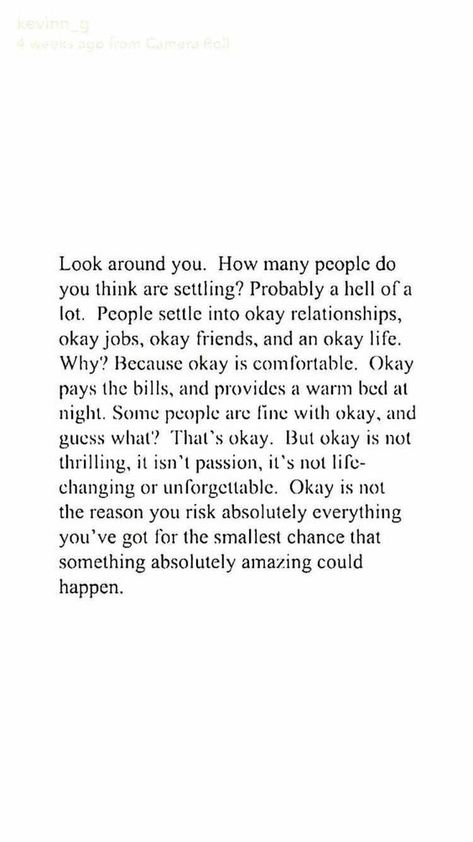 Okay is okay...