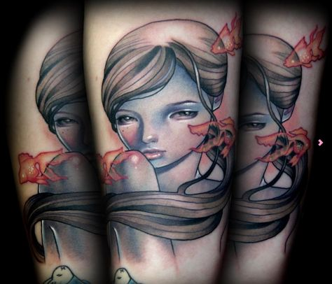 Audrey Kawasaki tattoo by Kelly Doty.