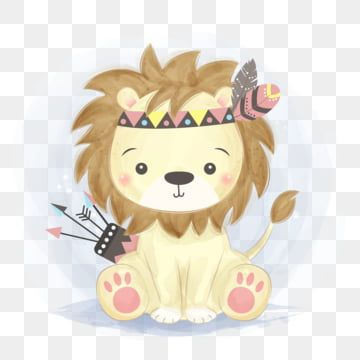 Adorable Tribal Lion Illustration Lion King Clipart Adorable Animal Png And Vector With Transparent Background For Free Download In 2021 Lion Illustration Tribal Lion Baby Animal Drawings