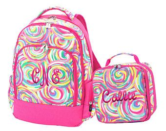 Swirl Student Backpack Personalized