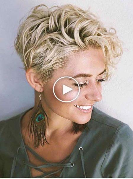 Kurze haare mit locken blond