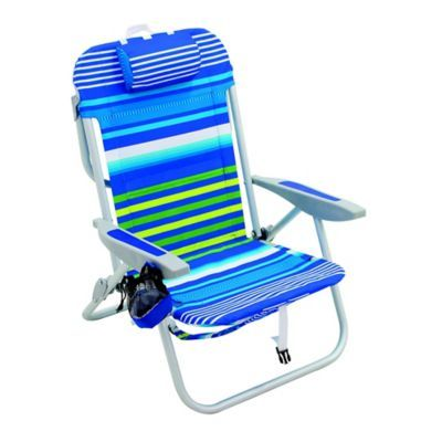 Backpack Beach Chair With A Durable Steel Aluminum Frame Adjusts To Five Positions For Your Comfort Fea Backpack Beach Chair Beach Chairs Beach Chair Umbrella