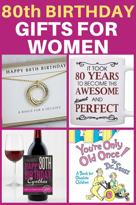 80th Birthday Gifts For Women