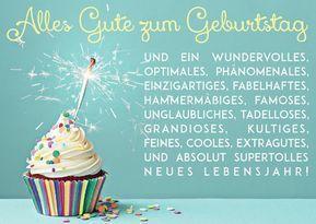 Postcard A6 modern funny happy birthday CUPCAKEKÖPENICK ...   - Geburtstagswünsche Lustig -