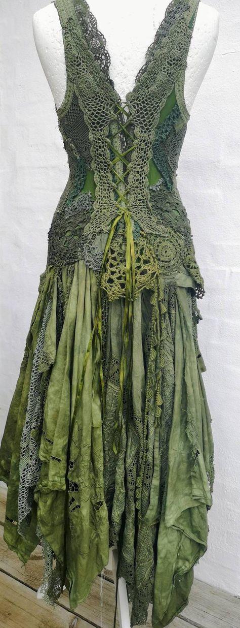Woodland wedding dress,Goddess wedding dress,boho wedding dress green,elven wedding dress,bohemian wedding dress,whimsical wedding dress,raw
