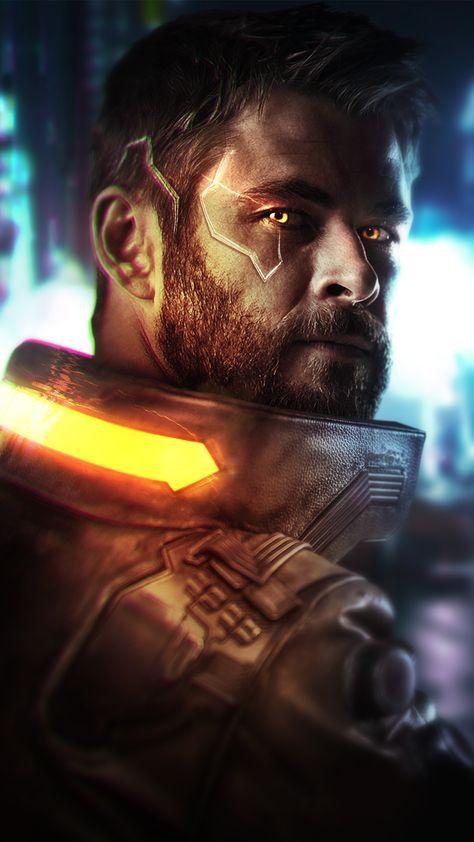 Cyberpunk 2077 Thor Wallpaper - iPhone 11