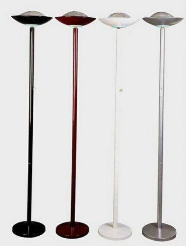 Torchiere Floor Lamp In Brushed Metal
