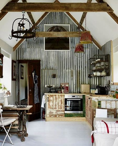 Uses For Corrugated And Galvanised Sheet Metal Country House Decor Rustic House Home