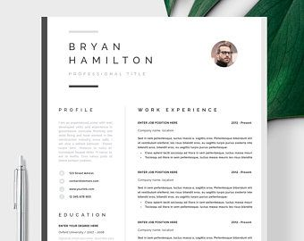 Professional Resume Template Clean Modern Resume Template Etsy Resume Template Professional Resume Template Etsy Resume Template