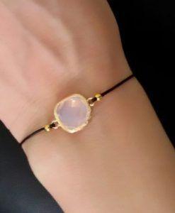 464a71b20a4 Idée cadeau femme-Bracelet pierre rose