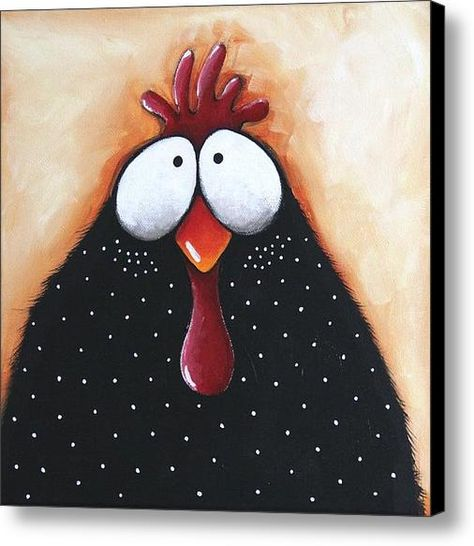 ACEO Print Folk Art illustration whimsical bird painting chicken pox in Art, Direct from the Artist, Prints