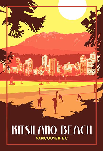 Vancouver Bc Vintage Travel Poster Etsy Travel Posters