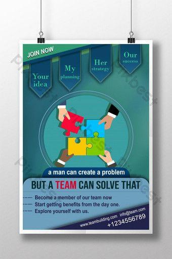 Blue Corporate Team Psd Poster Template Psd Free Download Pikbest Psd Poster Template Poster Template Corporate Team