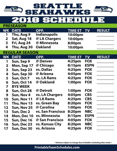 picture regarding Printable Seahawks Schedule referred to as Pinterest