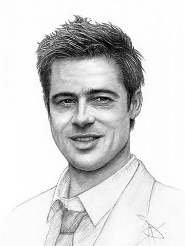 Brad Pitt Drawing Brad Pitt Portrait Portrait Drawing