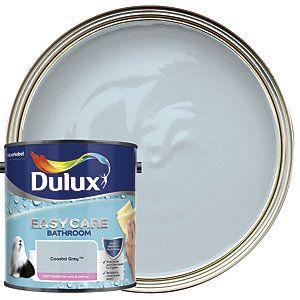 Dulux Easycare Bathroom Coastal Grey Soft Sheen Emulsion Paint 2 5l In 2020 Dulux Soft Sheen Painting Bathroom