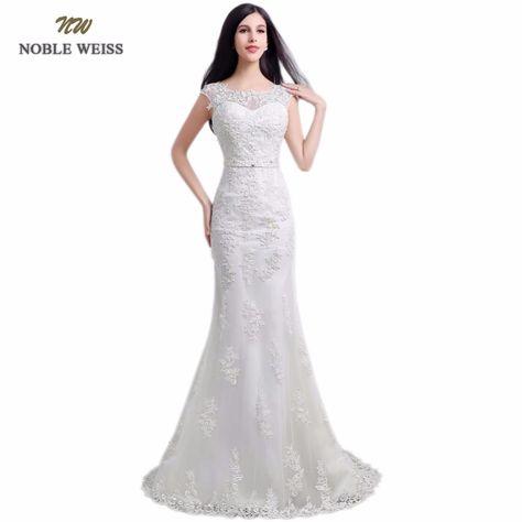 hermoso vestido de novia barato sirena espalda descubierta