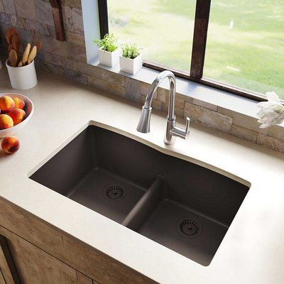 Elkay Quartz Luxe 33 L X 19 W Double Basin Undermount Kitchen