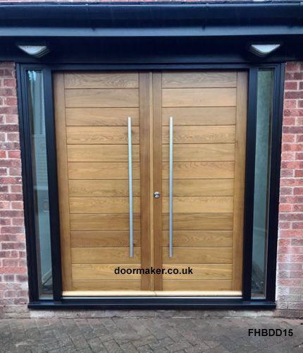 Oak Contemporary Double Doors Contemporary Front Doors Unique Garage Doors Garage Door Design