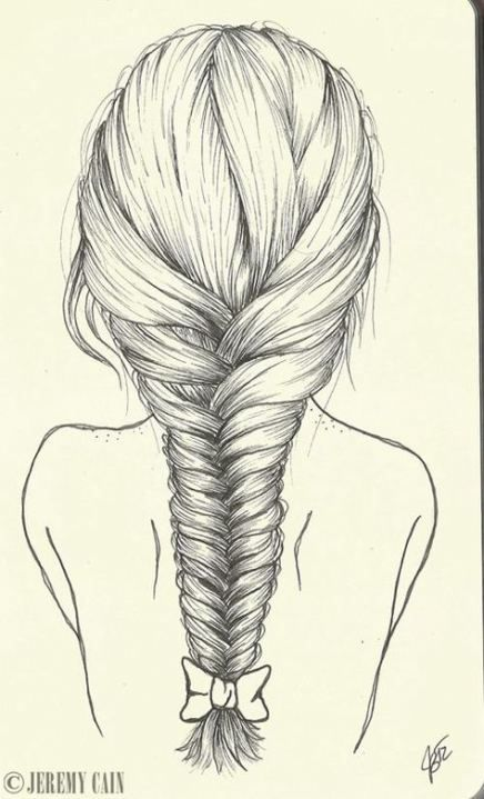 15 Trendy Drawing Girl Back Hair Sketch How To Draw Hair How To Draw Braids Hair Sketch