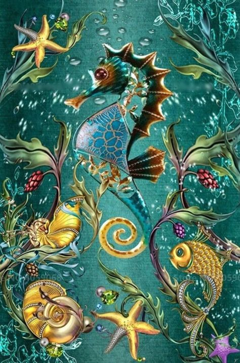US Seller. 50x40cm Beautiful Tropical Seahorse DIY 5D | Etsy
