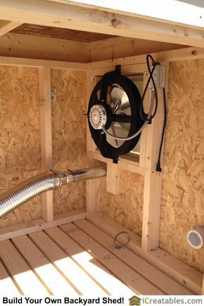 Generator Shed Ventilation Using Gable Vent To Push Air Out Of The