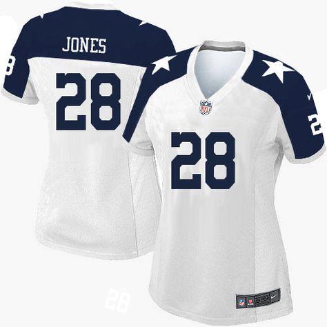 womens nike dallas cowboys 28 felix jones limited white throwback alternate nfl jersey sale nfl pinterest