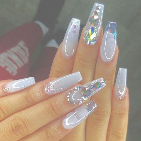 Sparkle and Shine Into 2019 With These 48 Gorgeous Nail Ideas 48 Gorgeous Nail Choices For Whether you enjoy a natural manicure, gel nails, or acrylic nails, or even just painting your own nails,
