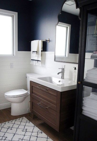 50 Half Bathroom Ideas That Will Impress Your Guests And Upgrade Your House Bathroom Makeover Unique Bathroom Ikea Vanity