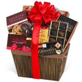 Gourmet Chocolate Basket 85 200 Same Day Delivery Valentine S Day Gift Baskets Same Day Delivery Gifts Delivery Gifts