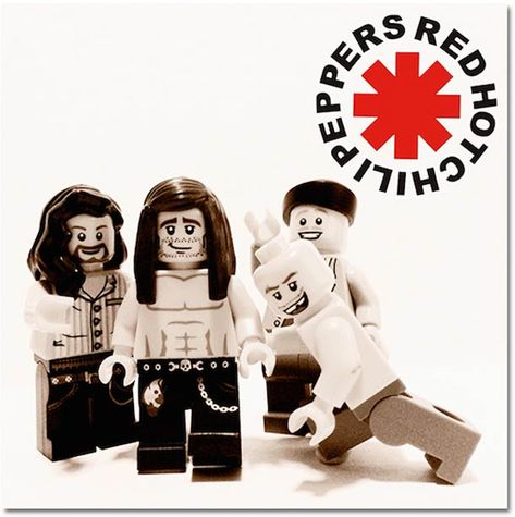 Red Hot Chili Pepperr - music bands recreated in Lego!