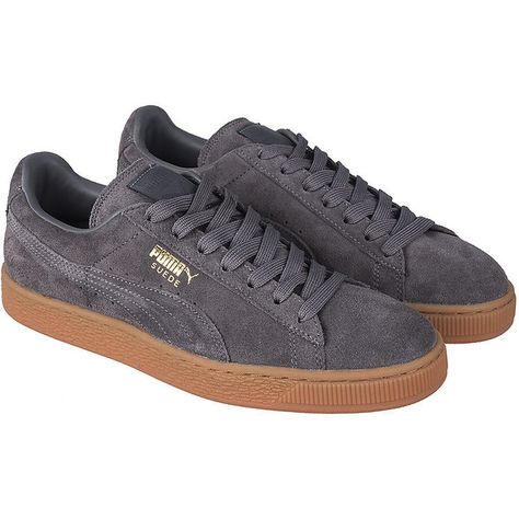 6acc7059295b59 Puma The Suede Winter Gum Sneaker in Grey ( 60) ❤ liked on Polyvore  featuring men s fashion