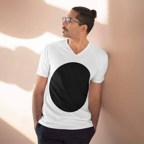 This semi-fitted V-neck is the perfect blend of 100% preshrunk combed ring spun cotton, semi-fitted, high stitch density t-shirt of your dreams. It has a light fabric featuring shoulder-to-shoulder taping, seamed mitered V-neck collar, and a smooth printing surface. This double-needle stitched sleeve tee is Oeko-Tex® Standard 100 Certified. 100% Cotton. S M L XL 2XL 3XL Width, in 18 20 22.01 24.01 26 28.01 Heigth, in 28.01 29.01 30 31 32 33.01