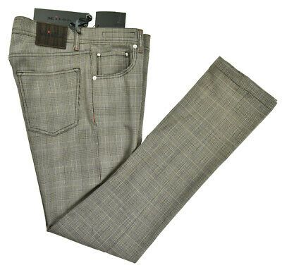 New Kiton Jeans 100 Wool Size 32 Us 48 Eu Mod Upnjs 18kp29 In 2020 Kiton Brown Leather Pants Cotton Linen Trousers