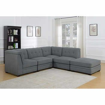 Prime Foles Dark Grey 5 Piece Living Room Sectional In 2019 Caraccident5 Cool Chair Designs And Ideas Caraccident5Info