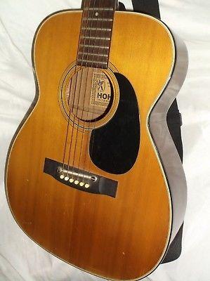 Vintage Hohner International Made In Japan Acoustic Guitar Hg07 Made In Japan Hohner Guitar Acoustic Guitar