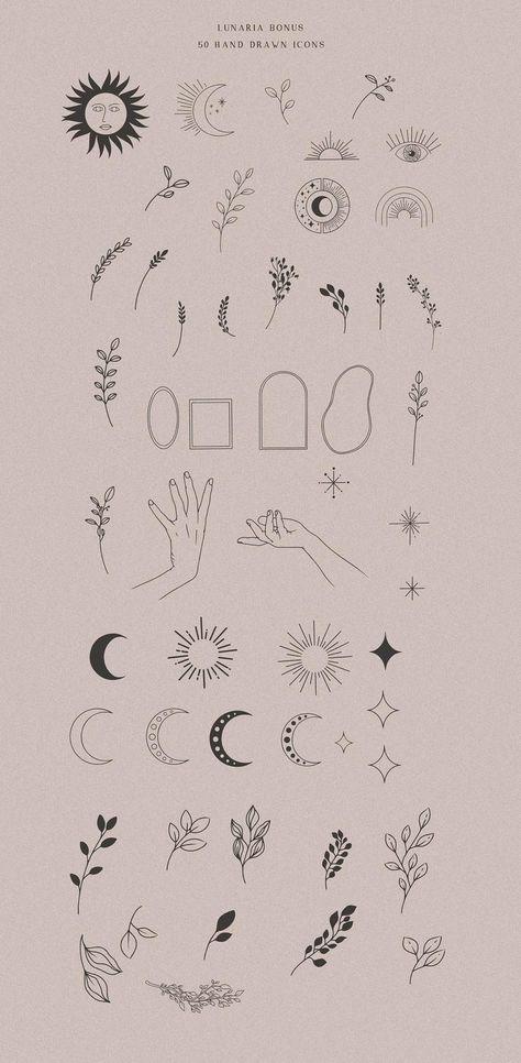 Fine art alchemy symbol, zodiac esoteric moon clipart, hand drawn spiritual elements PNG, spiritual moon alchemist clip art, boho eclipse