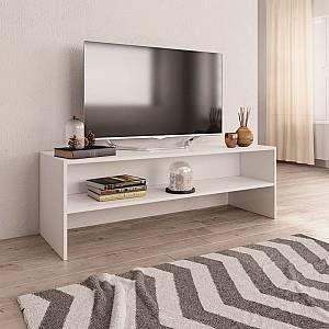 youthup meuble tv blanc 120 x 40 x 40