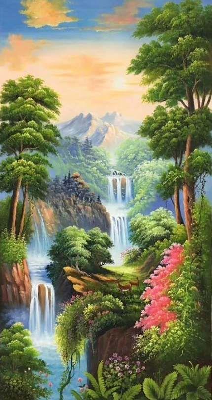 Painting Mountain Canvas 35 Ideas Nature Art Painting Scenery Paintings Nature Paintings