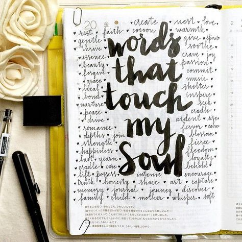 Words that touch my soul  Have a great weekend everyone!  #hobonichi #stationery #planner #filofax #notebook #diary #mtn #midori #travelersnotebook #journal #journaling #journalingprompts #52lists...