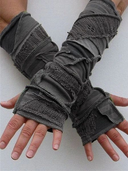 Autumn Winter Casual Basic Knitted Gloves Sleeve Type:Half Sleeve Material:Knitted Occasion:Daily,Casual Style:Vintage,Casual Theme:Winter,Fall Color:Green Size:One-size Mode Geek, Mode Steampunk, Casual Steampunk, Steampunk Fashion, Gloves Fashion, Apocalyptic Fashion, Post Apocalyptic Clothing, Cool Outfits, Gothic Fashion