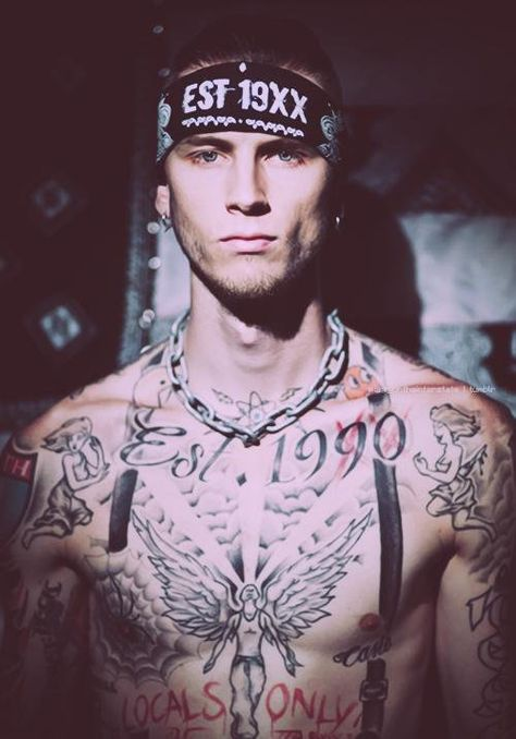 Machine Gun Kelly-always a fan of tattoos