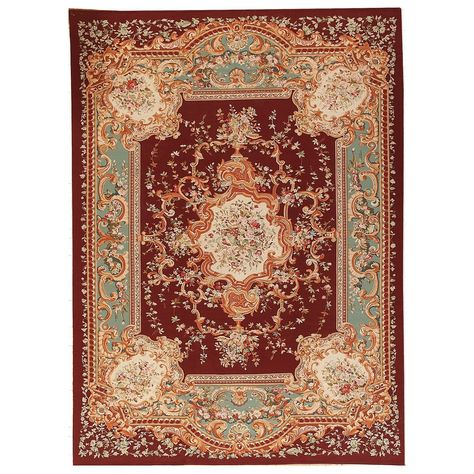 Pasargad Aubusson Hand Woven Red Wool Area Rug 11 2 X 15 5 11 X 15 Red 11 X 15 Red Wool Area Rug Wool Area Rugs Red Area Rug