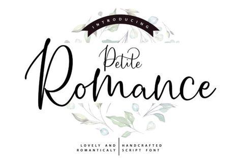 Petite Romance (Font) by Vunira · Creative Fabrica