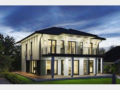 Stadtvilla modern mit balkon  Montana - #Einfamilienhaus von RENSCH-HAUS GmbH | Haus XXL #modern ...