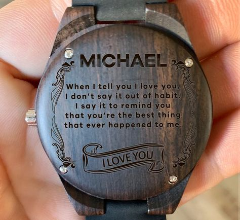 To My Husband (Custom Name) - Your The Best Thing Thats Happened Wooden Watch, Wood Gifts for Husban