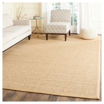 Carson Natural Fiber Area Rug Maize Yellow 8 X 11 Safavieh Durable Arearugs Sisal Rug Seagrass Rug Area Rugs